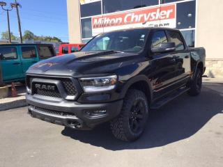 New 2020 RAM 1500 REBEL CREW 4X4 / 12 INCH RADIO / PANO ROOF / NAV / for sale in Milton, ON