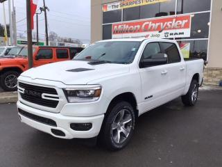 New 2020 RAM 1500 SPORT CREW 4X4 / 12 INCH NAV / LEVEL 2 / HITCH for sale in Milton, ON