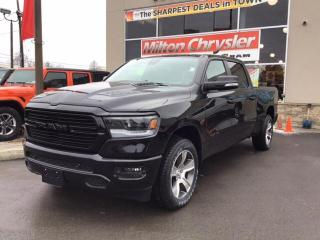 New 2020 RAM 1500 SPORT CREW 4X4 LONGBOX / 12 INCH NAV / HITCH / LEV for sale in Milton, ON