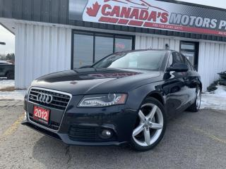 Used 2012 Audi A4 2.0T QUATTRO PREMIUM | LEATHER | SUNROOF | MEDIA for sale in Barrie, ON