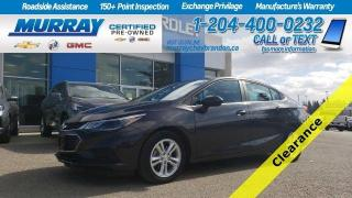Used 2017 Chevrolet Cruze *Low KMs * Remote Start* Heated Seats* Backup Cam* for sale in Brandon, MB