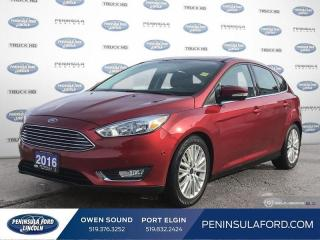 Used 2016 Ford Focus Titanium - Leather Seats -  Heated Seats - $95 B/W for sale in Port Elgin, ON