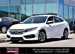 Used 2016 Honda Civic LX AUTO TRES BAS KM AUTO AC BLUETOOTH APPLE CARPLAY CAM RECUL++ for sale in Lachine, QC