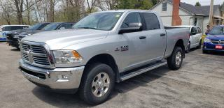 Used 2017 RAM 2500 SLT, DIESEL, 4X4, LOW KM, ONE OWNER! for sale in New Hamburg, ON