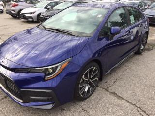 New 2020 Toyota Corolla AUTO SE 2W 4CY SE Upgrade for sale in Mississauga, ON