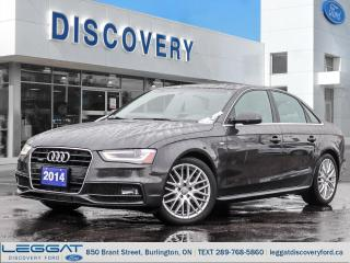 Used 2014 Audi A4 2.0T for sale in Burlington, ON