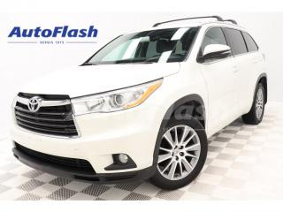 Used 2015 Toyota Highlander XLE *7-Pass *Cuir/Leather *GPS/Camera *Toit/Roof for sale in St-Hubert, QC