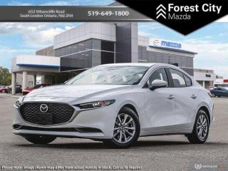 New 2019 Mazda MAZDA3 GS | Snowflake White Pearl | 6-Speed Automatic | AWD | Keyless Start | Back Up Cam | Keyless Entry for sale in London, ON