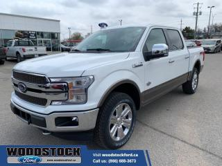 New 2020 Ford F-150 King Ranch  601A, KING RANCH, PWR BRD, TWIN PANEL ROOF for sale in Woodstock, ON