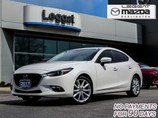Used 2017 Mazda MAZDA3 GT- LEATHER, MOONROOF, BOSE, BLUETOOTH, REAR CAMERA for sale in Burlington, ON