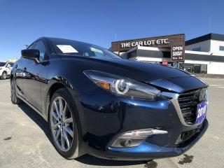 Used 2018 Mazda MAZDA3 GT LEATHER, NAVIGATION, BACKUP CAMERA, BLUETOOTH - PREVIOUS DAILY RENTAL for sale in Sudbury, ON