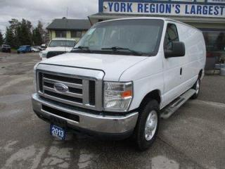 Used 2013 Ford E250 3/4 TON CARGO MOVING 2 PASSENGER 4.6L - SOHC.. EXT-CARGO.. TOW SUPPORT.. AIR CONDITIONING.. AUX INPUT.. IN-CARGO SHELVING.. FLEX FUEL.. for sale in Bradford, ON
