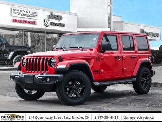 New 2020 Jeep Wrangler Unlimited SAHARA ALTITUDE | DUAL TOP | LED LIGHTS | SAFETY G for sale in Simcoe, ON