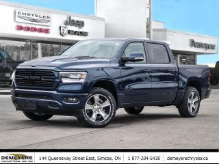 New 2020 RAM 1500 SPORT | LEATHER | SUNROOF | NAVIGATION for sale in Simcoe, ON