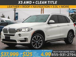 Used 2017 BMW X5 35i AWD| 3.0L| LEATHER| ROOF| NAV| HEAT STEERING for sale in Scarborough, ON
