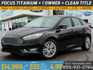 Used 2016 Ford Focus TITANIUM| NAV| ROOF| LEATHER| WINTER PCK| 2.0L for sale in Scarborough, ON