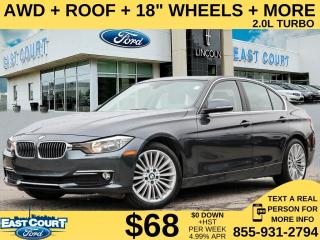 Used 2015 BMW 320i AWD xDrive| ROOF| LEATHER| 2.0L TURBO| 18 WHEELS for sale in Scarborough, ON
