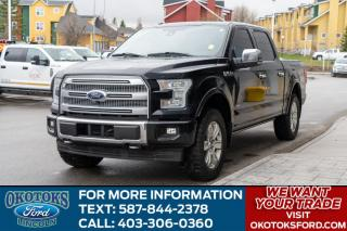 Used 2017 Ford F-150 Platinum 3.5L Ecoboost V6, Tech Package, Tow Package, Bed Liner, Moonroof, for sale in Okotoks, AB