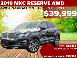 Used 2019 Lincoln MKC RESERVE ACTIVE NOICE CONTROL| ADAPTIVE SUSPENSION| NAV for sale in Scarborough, ON