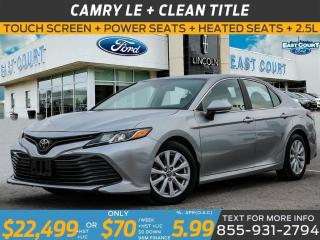 Used 2019 Toyota Camry LE| HEATED SEATS| TOUCH SCREEN| APPLE CARPLAY for sale in Scarborough, ON