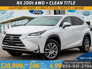 Used 2017 Lexus NX 200t AWD| LEATHER|ROOF|HEAT/COOL SEATS| LOADED for sale in Scarborough, ON