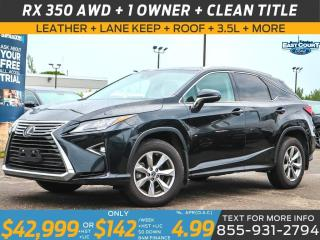 Used 2018 Lexus RX 350 AWD| LEATHER|ROOF|NAV|HEAT/COOL SEATS| LOADED for sale in Scarborough, ON