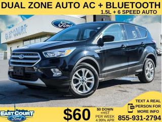 Used 2017 Ford Escape SE| DUAL ZONE AC| PADDLE SHIFTERS| HT SEATS| BLUETOOTH for sale in Scarborough, ON