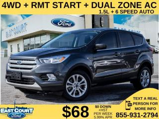 Used 2019 Ford Escape SE 4WD| RMT START| DUAL ZONE AC| SCREEN| APPLE/ANDROID AUTO for sale in Scarborough, ON