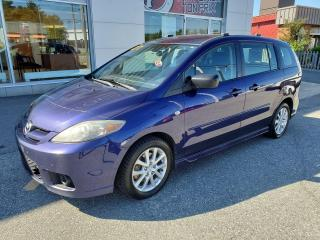 Used 2007 Mazda MAZDA5 GS *** 6 PASSAGERS + PORTE COULISSANTE *** VÉHICULE INSPECTÉ!!! for sale in Val-d'Or, QC