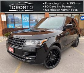 Used 2014 Land Rover Range Rover 3.0L V6 Supercharged HSE Navi Panoramic Roof Heated/Cooling Seats 22'' Niche Rims Service History for sale in North York, ON