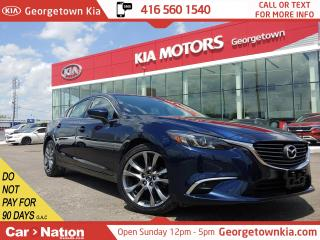 Used 2018 Mazda MAZDA6 GS-L Turbo | LEATHER | BU CAM |ACCIDENT FREE|TINTS for sale in Georgetown, ON