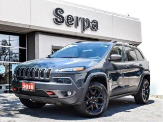 Used 2016 Jeep Cherokee Trailhawk |NAV|17SBLACK|LEATHER|PGATE|ANVIL| for sale in Toronto, ON