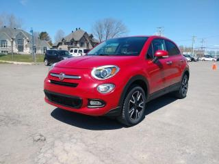 Used 2016 Fiat 500 X SPORT ROSSO AWD *CAMERA* SIEGES CHAUFFANTS *PROMO for sale in St-Jérôme, QC
