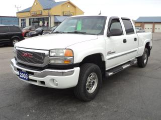 Used 2003 GMC Sierra 2500 SLT CrewCab 4x4 6.6L  Duramax Diesel 6.5ft Box for sale in Brantford, ON