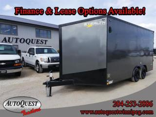 Used 2021 Stealth Cargo Trailer 8.5' x 16' V-Nose for sale in Winnipeg, MB