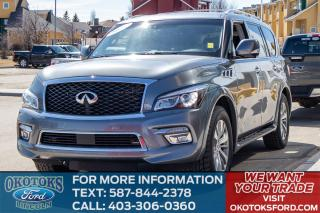 Used 2016 Infiniti QX80 SUN ROOF/DVD/3RD ROW/LOADED for sale in Okotoks, AB