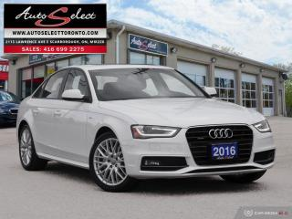 Used 2016 Audi A4 Quattro AWD ONLY 93K! **S-LINE PKG** CLEAN CARPROOF for sale in Scarborough, ON