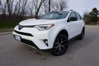 Used 2017 Toyota RAV4 1 OWNER / HYBRID SE / NAV / LEATHER / BLINDSPOT for sale in Etobicoke, ON