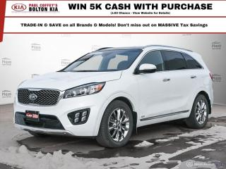 Used 2018 Kia Sorento SXL | 1 OWNER | 7 PASS | NAV | PANO ROOF for sale in Bolton, ON