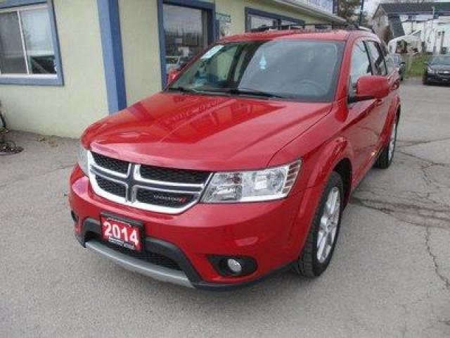 2014 Dodge Journey FAMILY MOVING LIMITED EDITION 7 PASSENGER 3.6L - V6.. BENCH & THIRD ROW.. NAVIGATION.. HEATED SEATS.. BACK-UP CAMERA.. POWER SUNROOF.. DVD PLAYER..