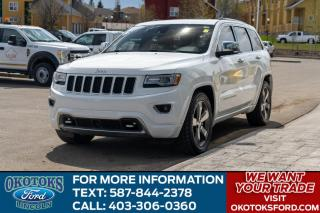 Used 2015 Jeep Grand Cherokee Overland 3.0 DIESEL/ROOF/NAV/LEATHER/HEATED-COOLED SEATS/HTD WHEEL for sale in Okotoks, AB