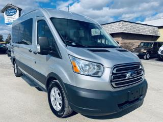Used 2015 Ford Transit Wagon, T350 XLT, 3.5L ECOBOOST ENGINE, 15 Passenger Van, Clean CARFAX Report, for sale in Ridgetown, ON