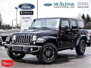 Used 2016 Jeep Wrangler Unlimited Sahara for sale in Aurora, ON