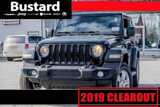 New 2019 Jeep Wrangler Sport S | 4WD | KEYLESS ENTRY | REMOTE START for sale in Waterloo, ON