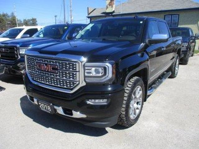 2018 GMC Sierra 1500 LOADED DENALI EDITION 5 PASSENGER 5.3L - VORTEC.. 4X4.. CREW-CAB.. SHORTY.. NAVIGATION.. LEATHER.. HEATED/AC SEATS.. BACK-UP CAMERA.. SUNROOF..