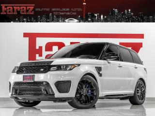 Used 2016 Land Rover Range Rover Sport SVR|550HP|ADAPT CRUISE|CARBN FIBR|HUD|360CAM|LOADED for sale in North York, ON