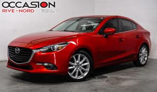 Used 2017 Mazda MAZDA3 GT TOIT.OUVRANT+SIÈGES.CHAUFFANTS+CAMÉRA.DE.RECUL for sale in Boisbriand, QC