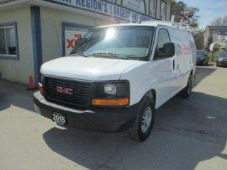 Used 2015 GMC Savana 3/4 TON CARGO MOVING 2 PASSENGER 6.6L - DIESEL.. SHORTY.. SHELVING AREAS.. WEATHER-GUARD ROOF RACKS.. CD/AUX INPUT.. KEYLESS ENTRY.. for sale in Bradford, ON