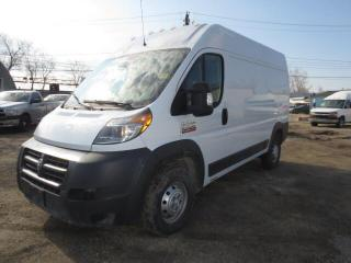 Used 2016 RAM Cargo Van ProMaster 2500 High Roof 136  WB - Cargo - Camera/Bluetooth for sale in Winnipeg, MB