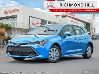 New 2020 Toyota Corolla Hatchback SE  - Navigation - $80.49 /Wk for sale in Richmond Hill, ON